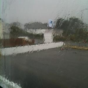 Flood water on window